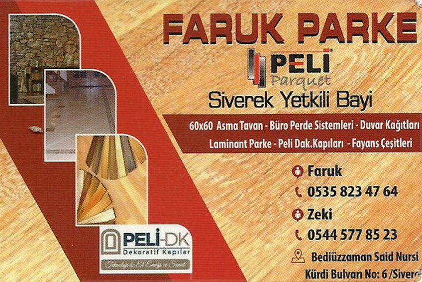 Faruk Parke – 0535 823 47 64 – Siverek